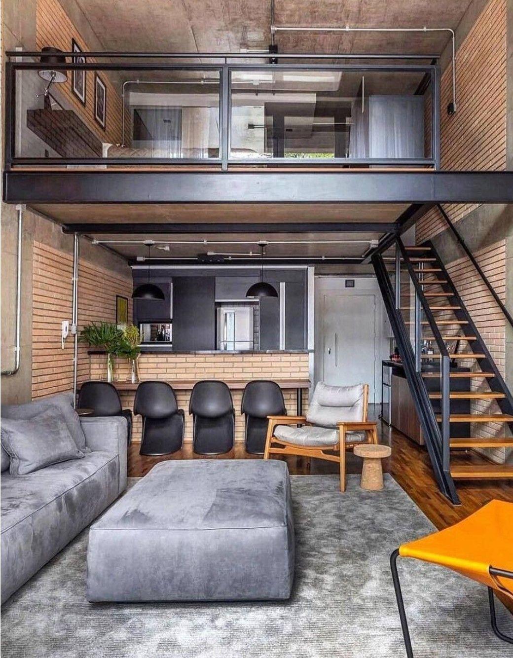 Loft studio Loft interior design, House design, Home