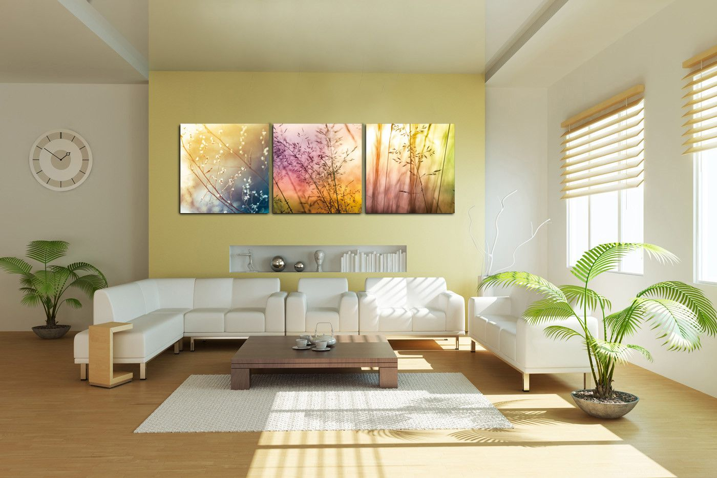 Fields of Color - Photography Triptych Print - 3 Panel Landscape Photography