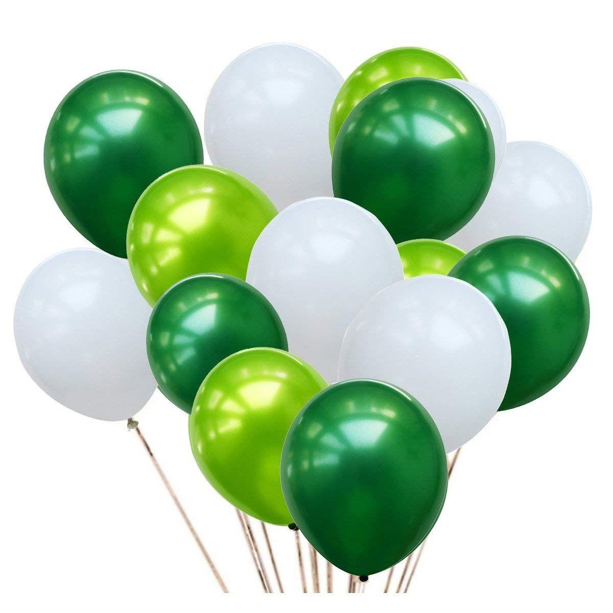 50 Luftballons in verschiedenen Grüntönen Partydeko für