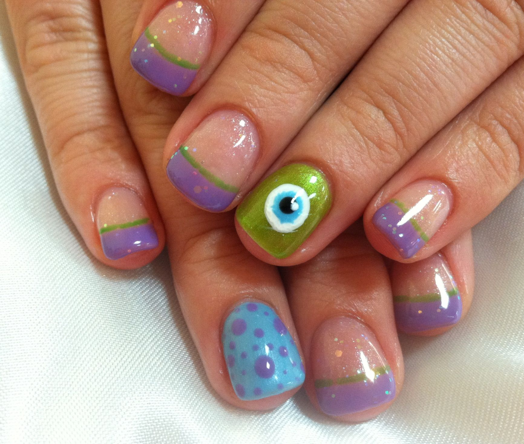 Monsters Inc! | Nails | Pinterest
