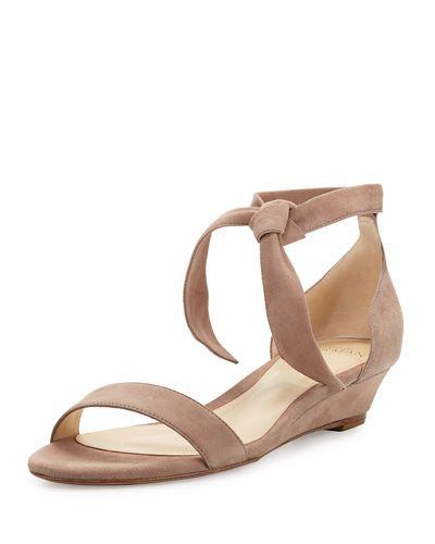 Clarita Leather Wedge SandalsAlexandre Birman 6MTHr832