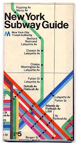 Nyc 70s Subway Map.Vintage Mid 70s New York City Subway Guide I Love Ny New York
