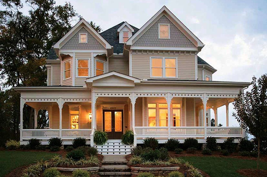 Victorian Style House Plan 4 Beds 3 5 Baths 2772 Sq Ft Plan 410 104 Victorian House Plans Country House Plan House Plans
