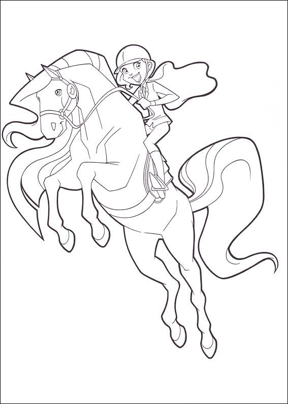 Coloriage Cheval Le Ranch.Coloriage Dessins Horseland 10 Le Ranch Coloriage Cheval