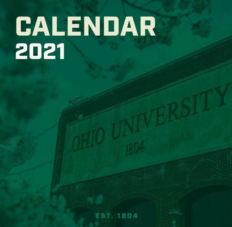 2021 OHIO UNIVERSITY WALL CALENDAR | Ohio university, Wall