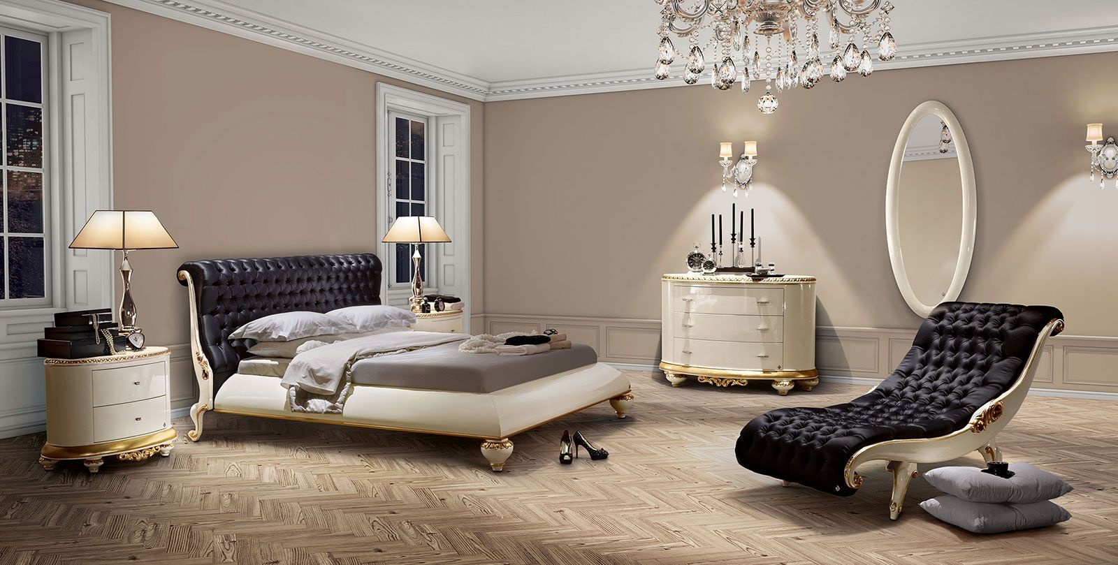 Modern Baroque Bedroom Jetclass Venezia Bedroom Black Buttoned Home Decor Master