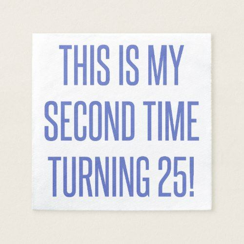 50th Birthday Gag Gift Paper Napkin | Zazzle.com #moms50thbirthday 50th Birthday Gag Gift Paper Napkin #moms50thbirthday