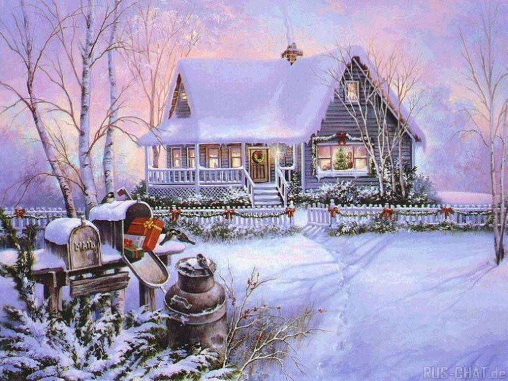 Winter images Thomas Kinkade Winter HD wallpaper and background ...