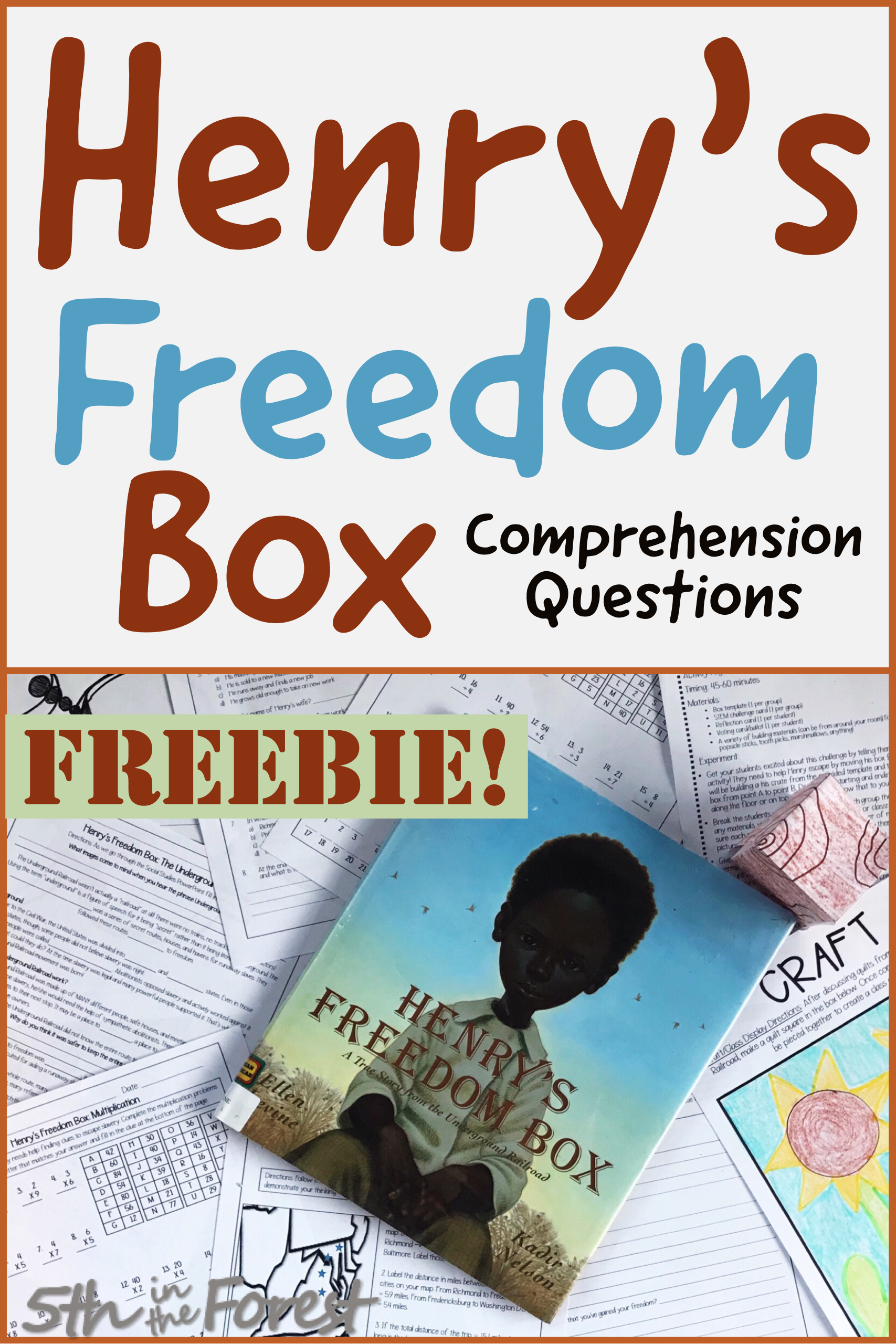 Henry S Freedom Box Comprehension Questions Freebie