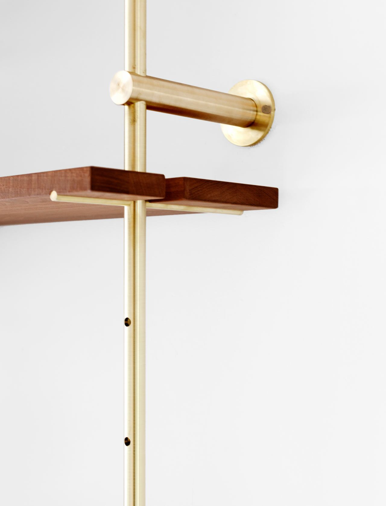 Brass Rail Shelving By Ryan Taylor For Object Interface Shelving  # Taylor Muebles Guadalajara