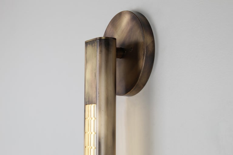 Yakata Linear Wall Sconce Line Light In Aged Brass Finish Sconces Metal Wall Light Wall Sconces