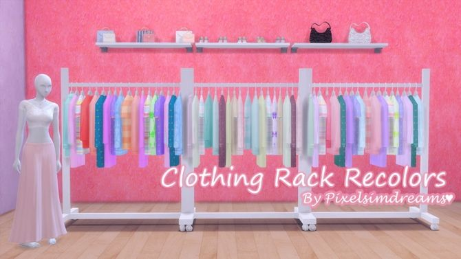 Clothing Rack Recolors At Pixelsimdreams Sims 4 Updates