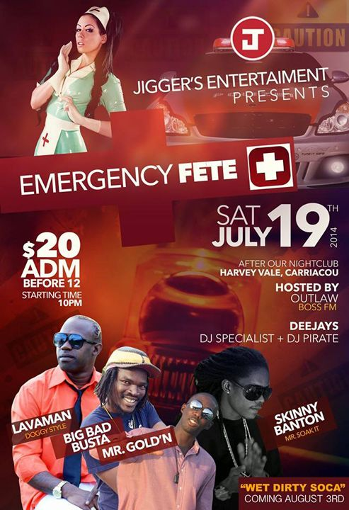 Jigger's Entertainment 'EMERGENCY FETE' Harvey Vale, Carriacou July 19th, 2014 #partygrenada
