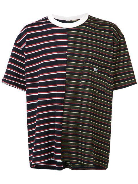 Shop Mr. Completely chest pocket striped T-shirt.