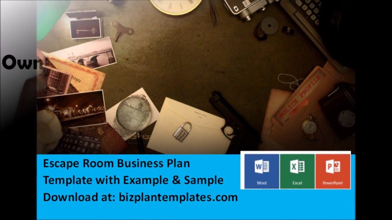Escape Room business plan - Template with Example & Sample | Escape