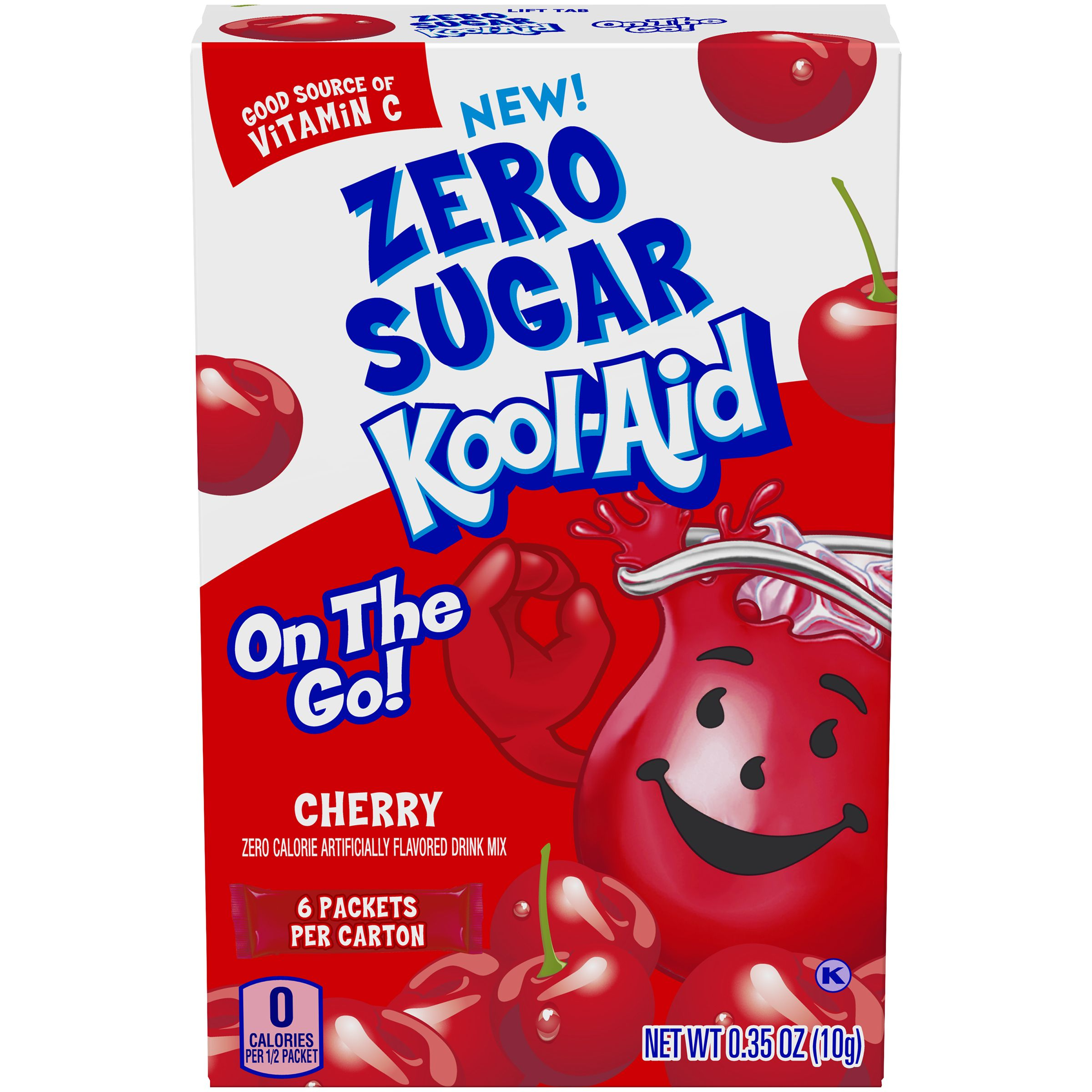 Kool Aid On The Go Sugar Free Cherry Drink Mix 0 35 Oz Box 6 Ct Packets Kool Aid Cherry Drink Kool Aid Mixed Drinks