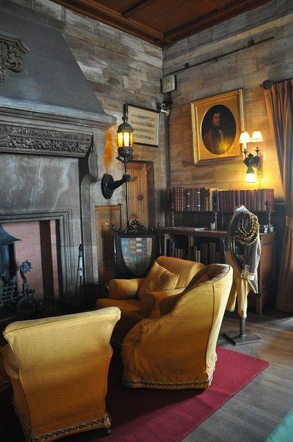 Drawing room bamburgh castle northumberland period - Estilo ingles decoracion interiores ...