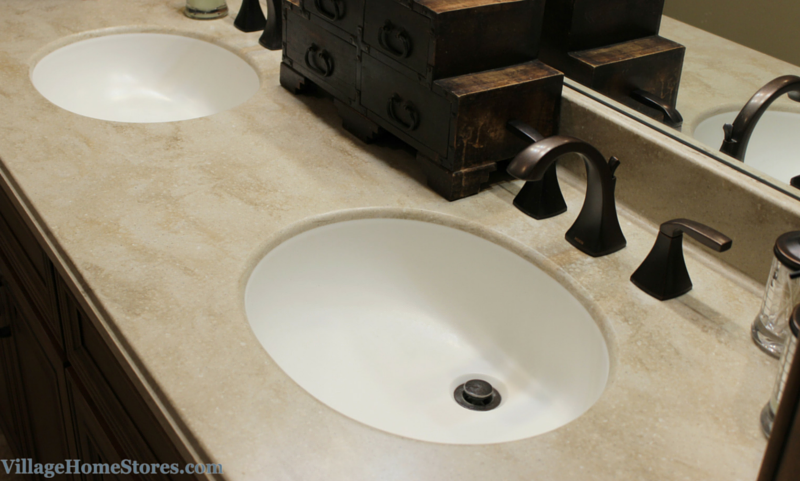 Images On Corian Tumbleweed bathroom vanity top with integrated bowl VillageHomeStores