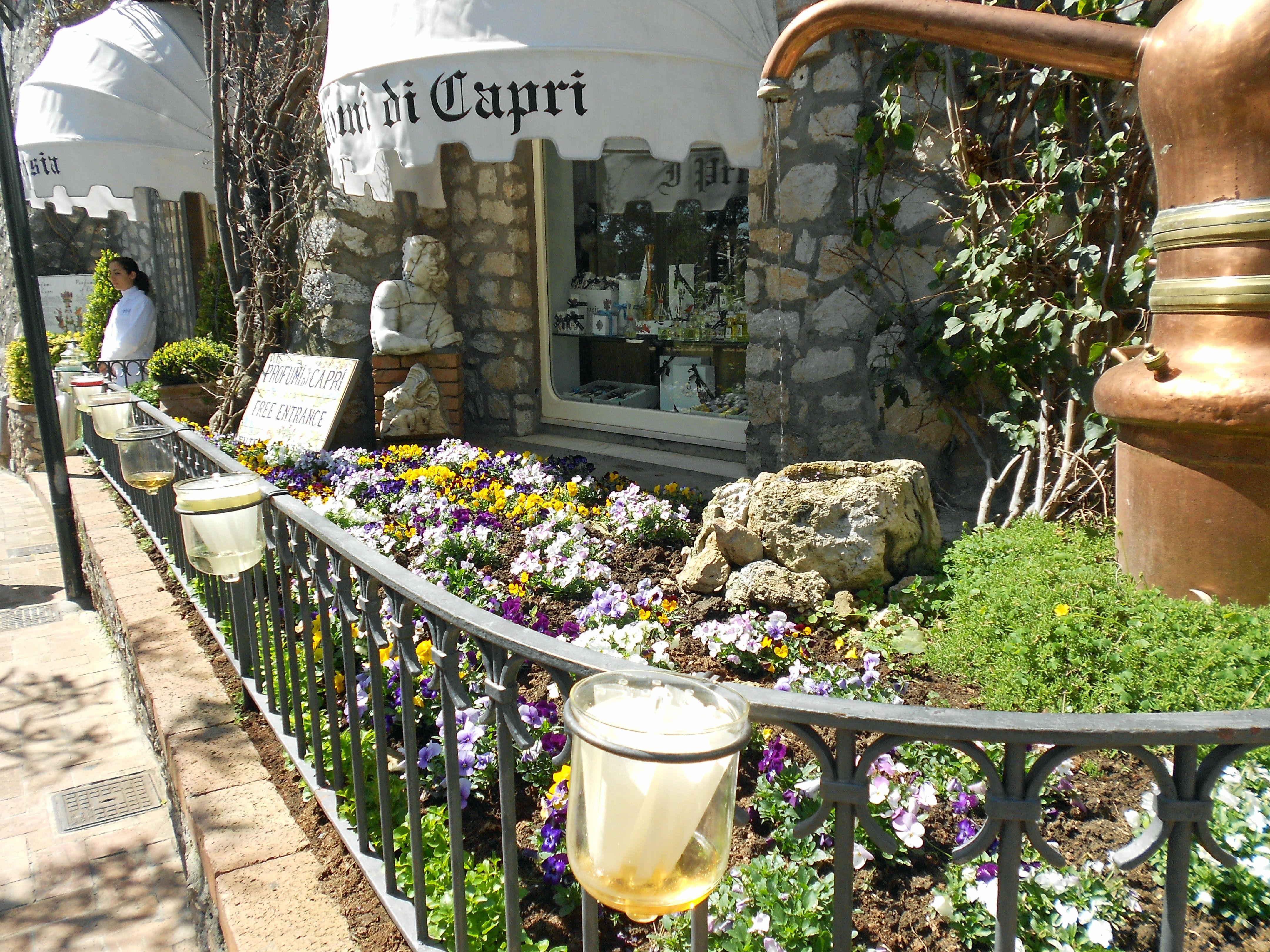 Perfume fills the air in Capri