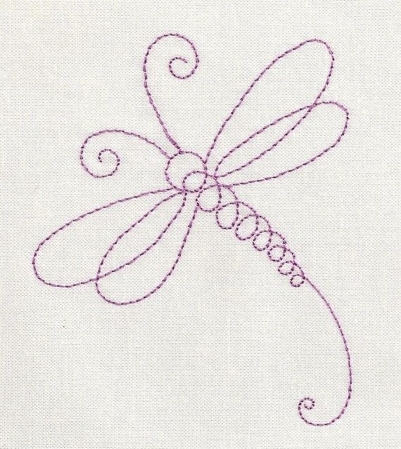 Dragonfly Line Machine Embroidery Design | Henna ...