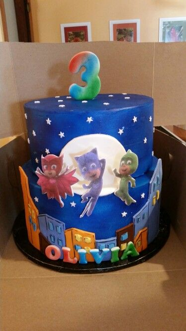 Pj Masks Cake Pj Masks Birthday Cake Boy Birthday
