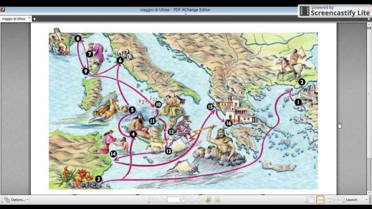 Odissea Il Viaggio Di Ulisse Cartina Viaggio Viaggi Storia