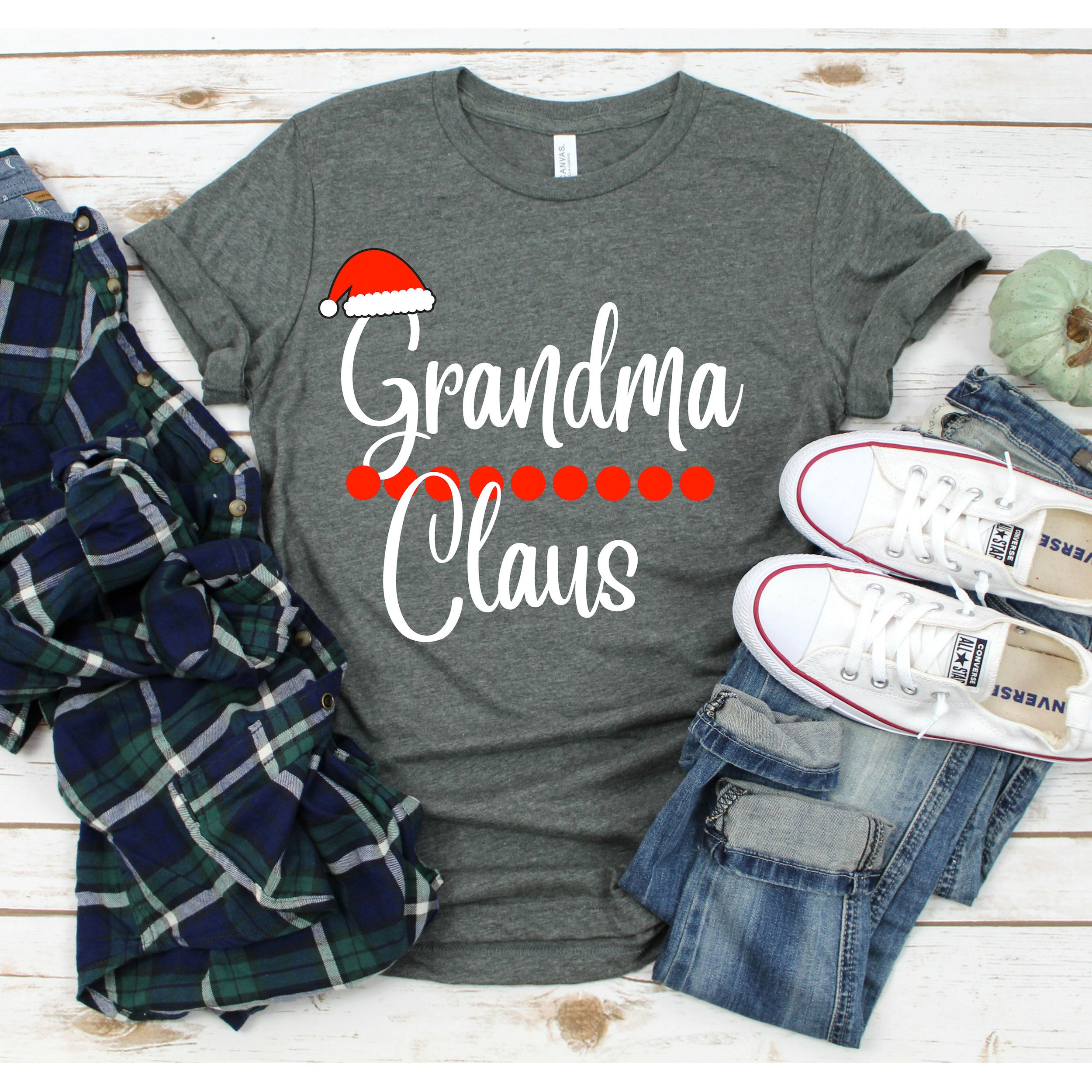 Grandma Claus T Shirt Santa Claus Tee Christmas Gift