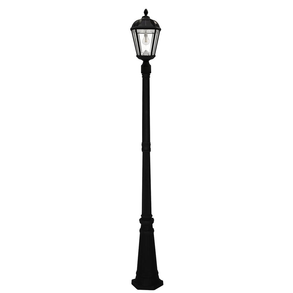 Royal Bulb Series Single Black Integrated Led Outdoor Solar Lamp Post Light With Gs Solar Led Light Bulb Solar Lamp Post Light Solar Lamp Post Solar Led Lights