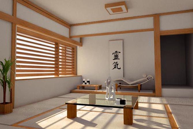 Ordinaire Japan Home Style Design With Open Top Glass Low Table And Indoor Paint Feat  Grey Color