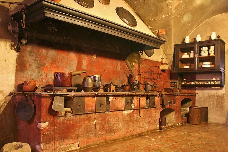 Old Kitchen Castle Of Dozza Bo Italy Italian Style Kitchens