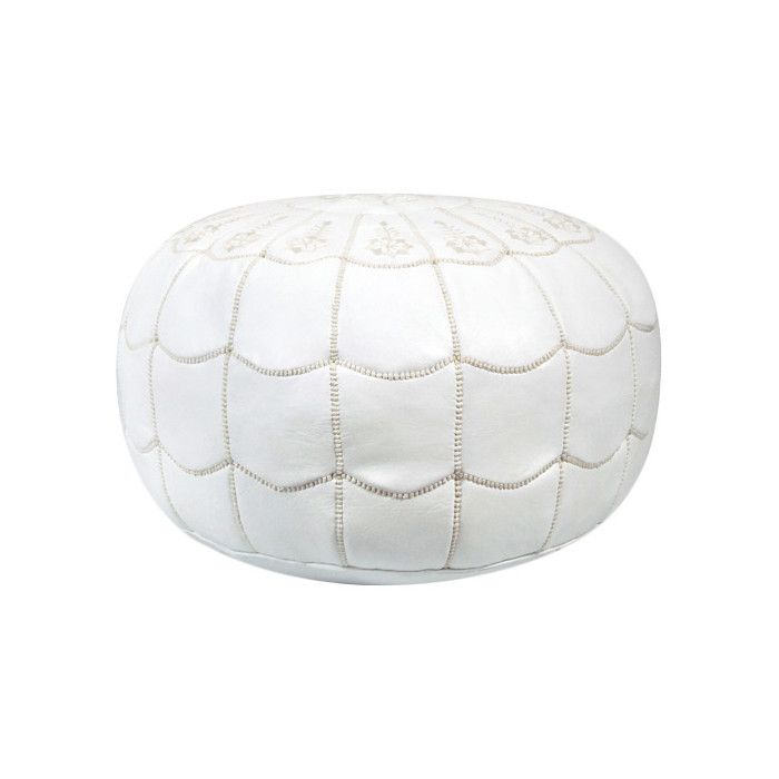 Shop Joss & Main for your Tamara Leather Pouf. Artfully handmade from leather, this distinctive pouf's scalloped stitching and medallion pattern give it a hint of Moroccan flair.