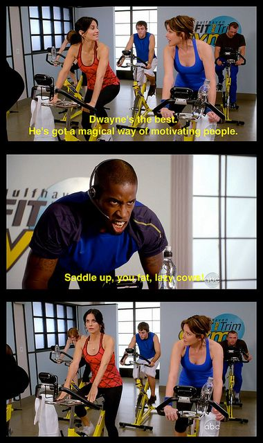 Cougar Town // Spinning | Great TV! | Cougar town, Tv memes