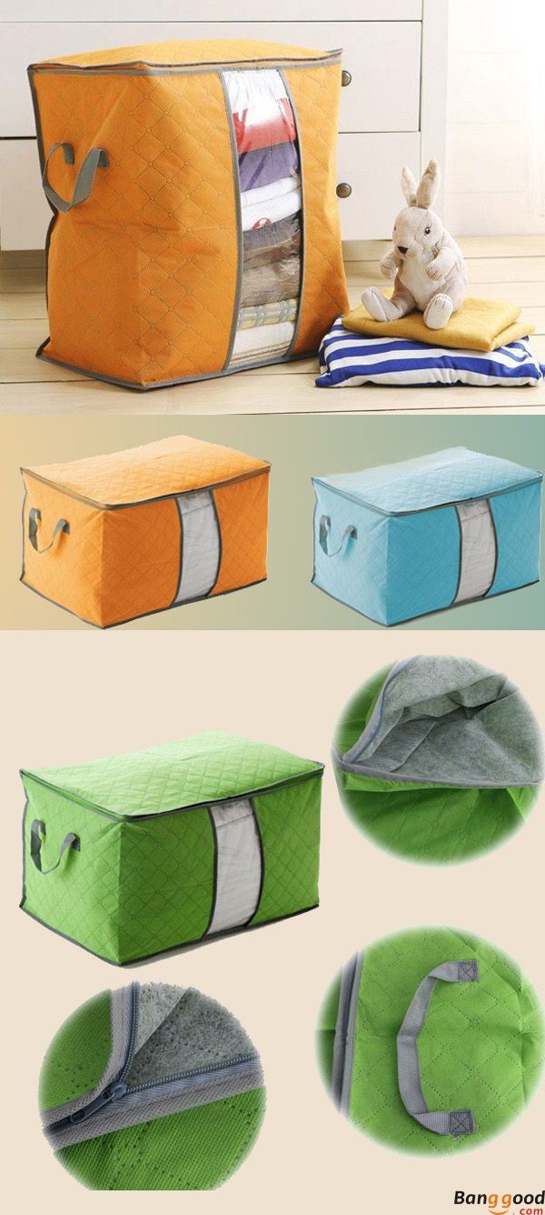 High Capacity Clothes Quilts Storage Bags Folding Organizer Bags Bamboo Portable Storage Container Housekeeping Organization From Home And Garden On Banggood Quilt Storage Fabric Storage Bag Storage