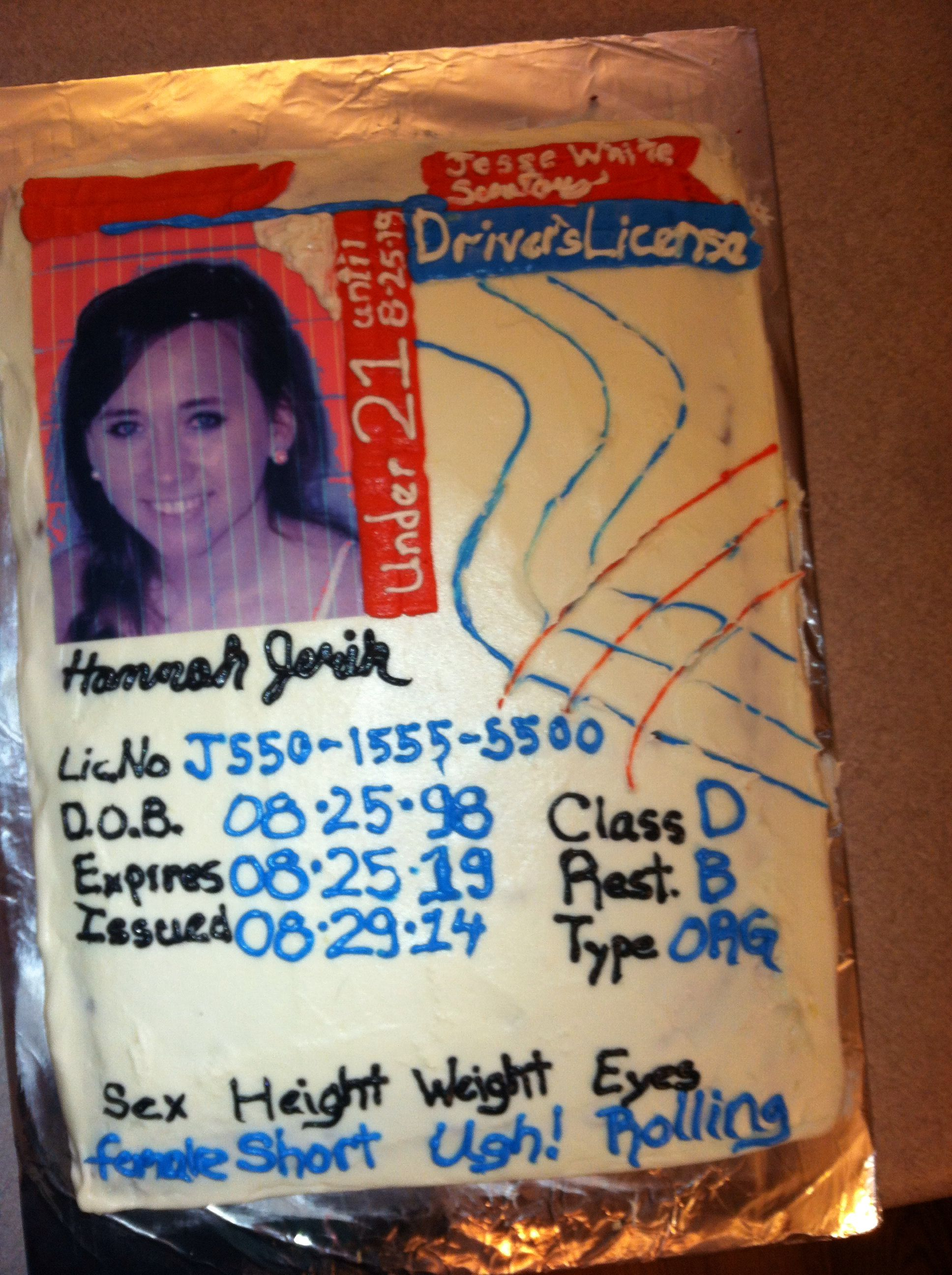 drivers license birthday cake for a 16 year old. | my posts