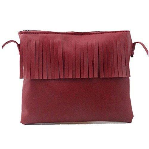 las bandolera Mujer Ofertas Rojo Para mujer Oferta bolso nuevo RETUROM Bolsos barato ofertas ¡Mira diseño Comprar de borla pqHn7xaw