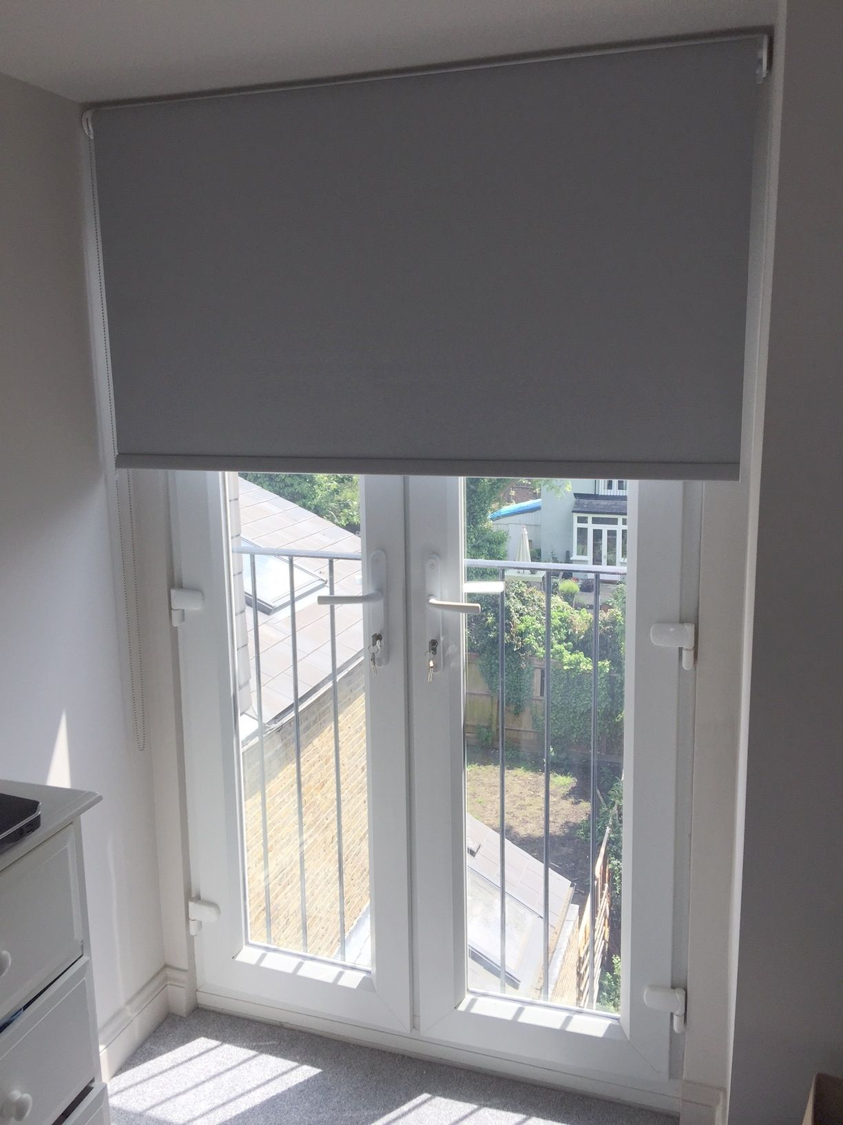 Blackout blinds for double doors