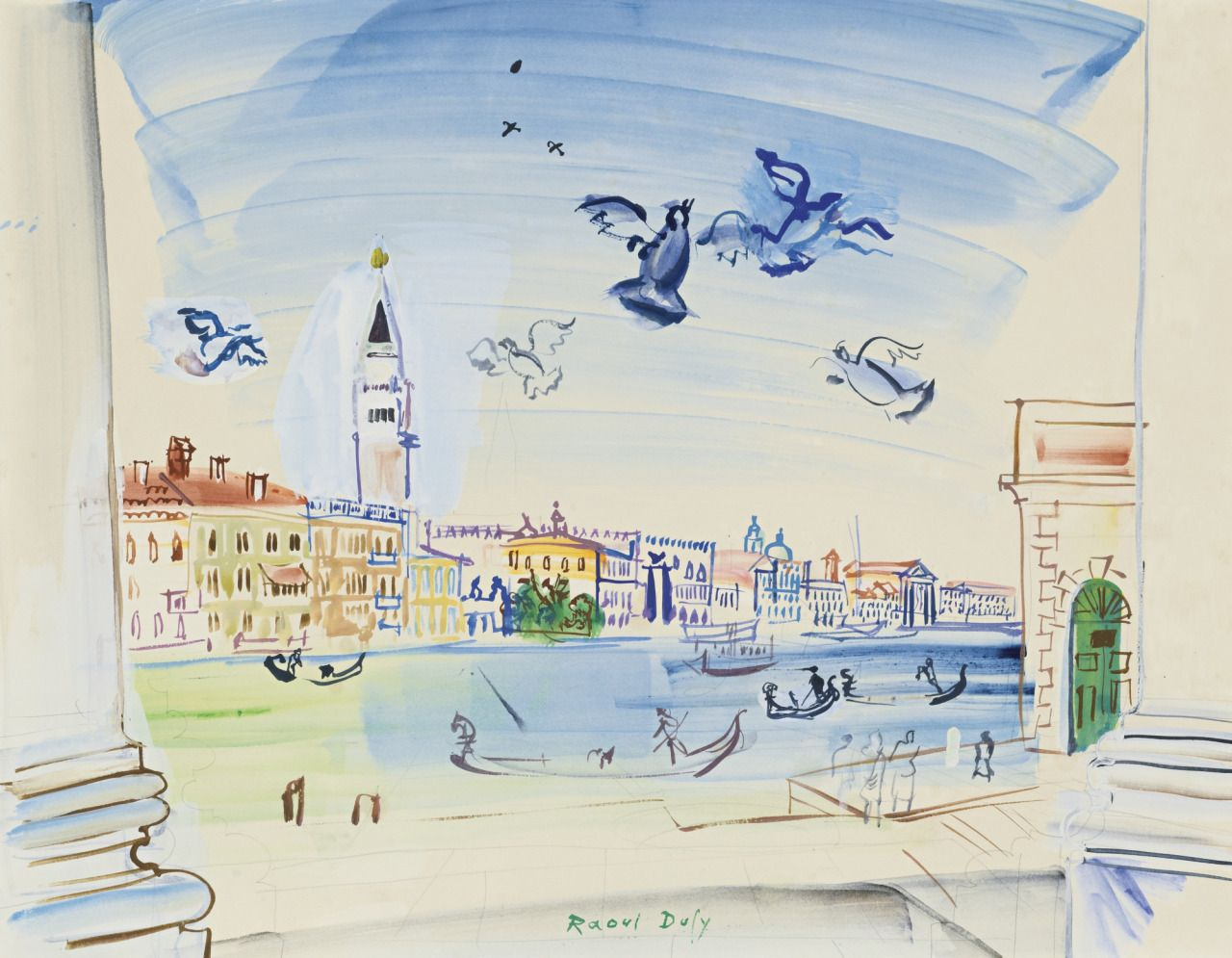 Raoul Dufy Francais 1877 1953 Le Grand Canal A Venise 1938
