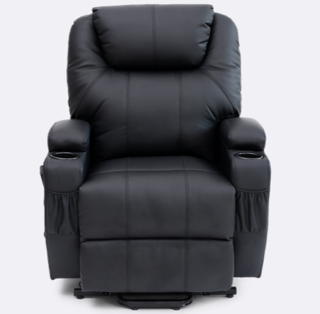 Enjoyable Cinemax Leather Rise Recliner Chair With Massage And Heat In Machost Co Dining Chair Design Ideas Machostcouk