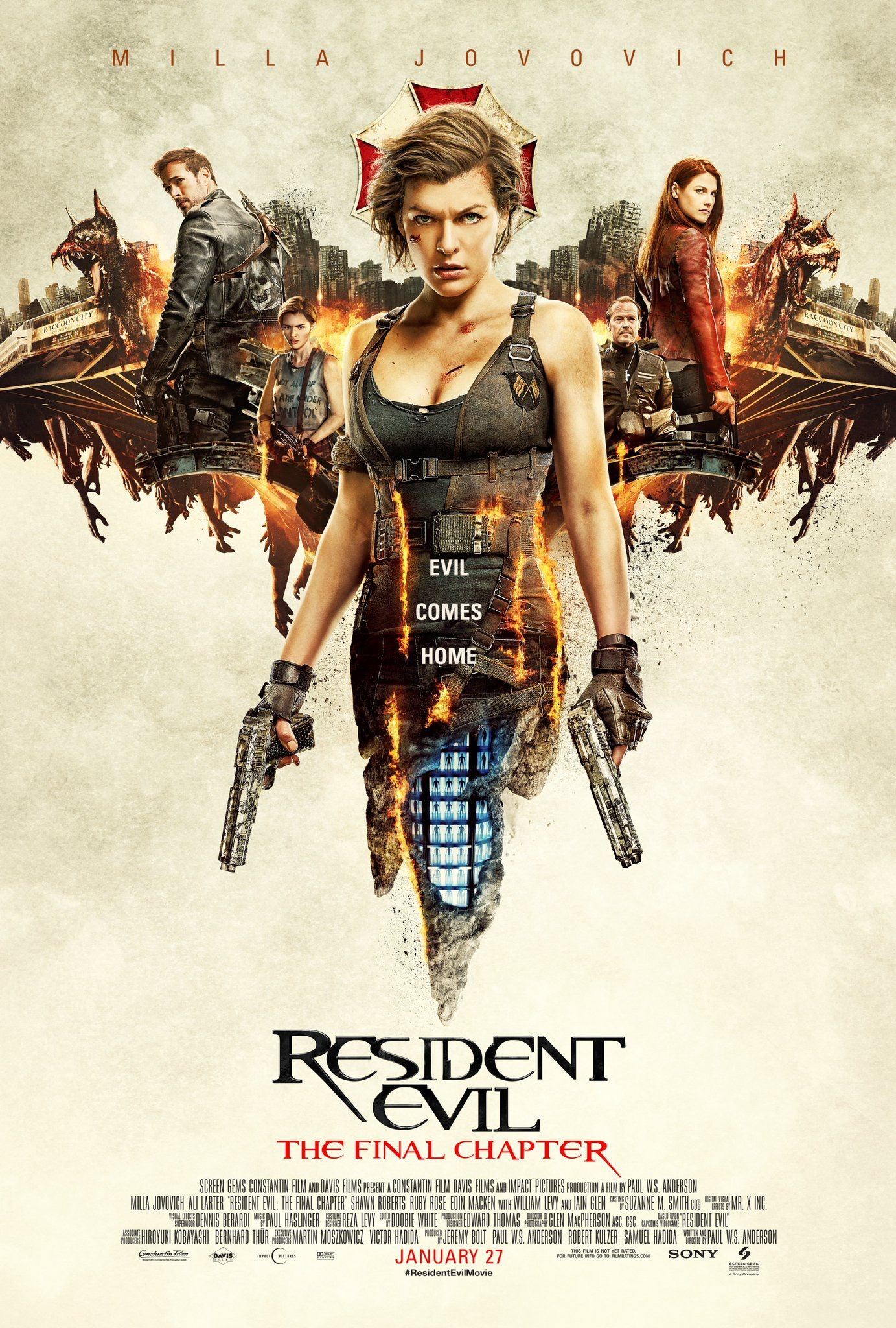 Resident Evil The Final Chapter Poster With Images Resident