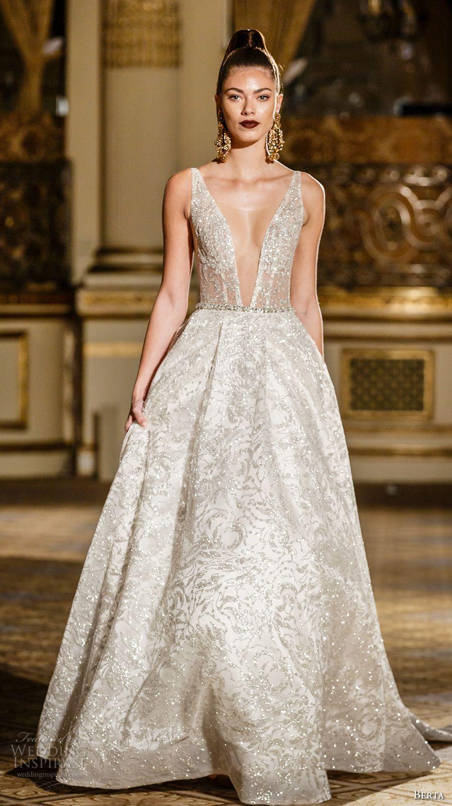 Berta Spring 2018 Wedding Dresses New York Bridal Fashion Week Runway Show Wedding Inspirasi Wedding Dresses Wedding Dress Couture Short Wedding Gowns