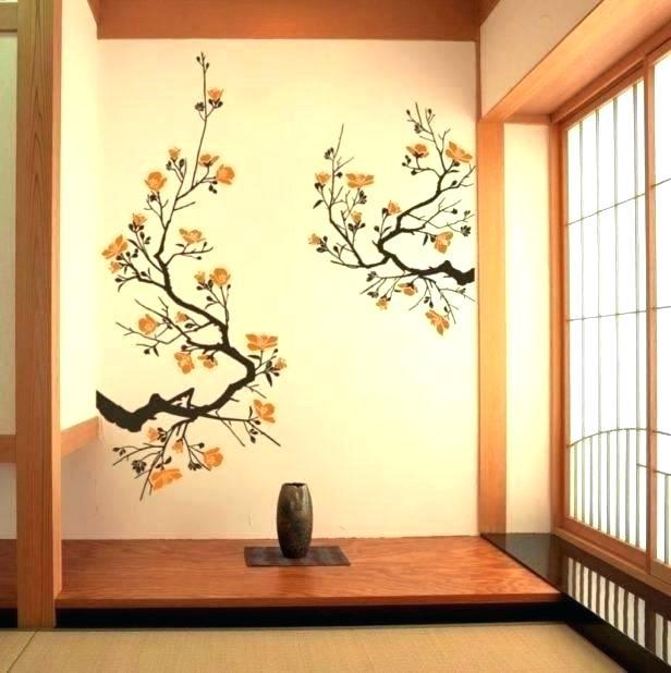 Asian Wall Art Wall Paper Google Search Wall Decals Living Room Japanese Wall Decor Wall Vinyl Decor