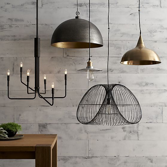 Rodan Hammered Metal Dome Pendant Light Living Dining In
