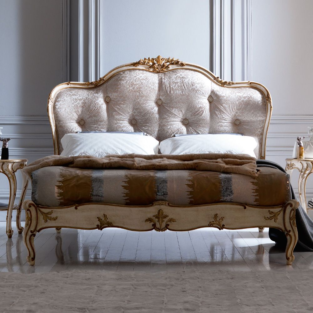 Italian Designer Button Upholstered Winged Bed At Juliettes Interiors,  Statement Beds And A Large Collection Of Classic Italian Furniture.