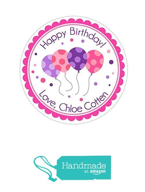 Personalized Happy Birthday Custom Stickers Labels Round Labels Gift Labels Party Favor Labels Stickers
