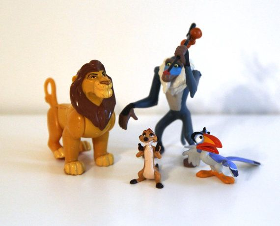 Vintage Lion King Toy Figures Disney Simba Timon Zazu Rafiki