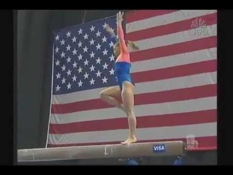 Shawn Johnson - Balance Beam - 2008 Olympic Trials - Day 1 - YouTube