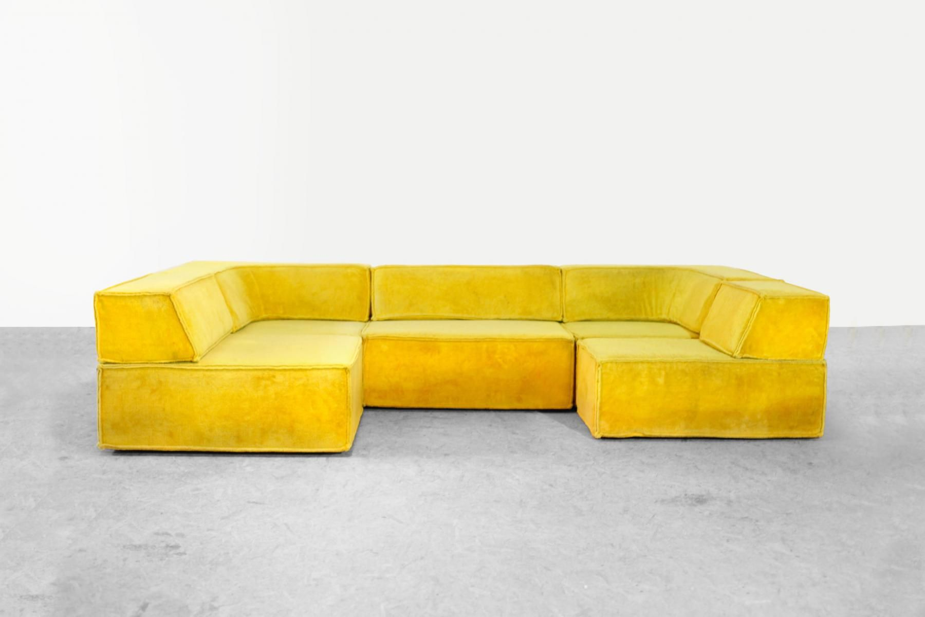 Vintage Modular Trio Sofa By Team Form Ag For Cor 1970s For Sale At Pamono Bedroom Furniture Design Vintage Couch Modular Furniture