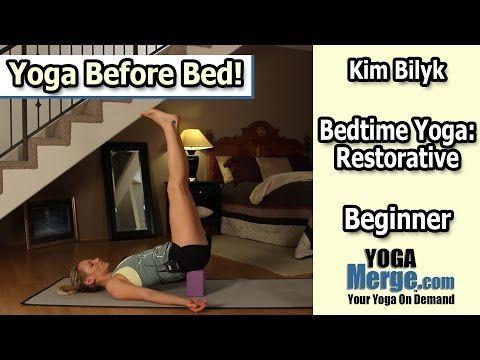 bedtime yoga restorative yoga class before bed  youtube