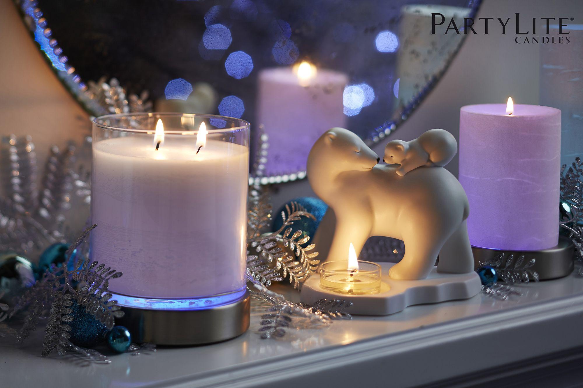 faites r gner la magie des f tes avec les piliers et les pots bougie glolite by partylite qui. Black Bedroom Furniture Sets. Home Design Ideas