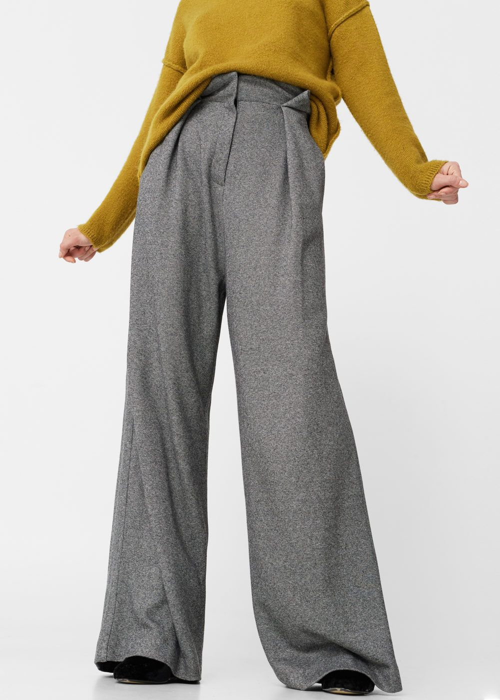 Haute Femme Look Palazzo Pantalons Taille Pantalon gqU4wEA